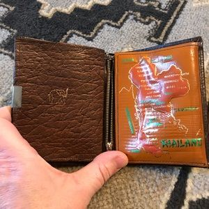 Vintage Elephant Wallet from Thailand with Map